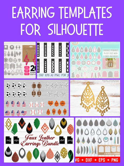 Faux Leather Earring Template : leather, earring, template, Leather, Earrings, Start, Finish:, Silhouette, CAMEO, Tutorial, School