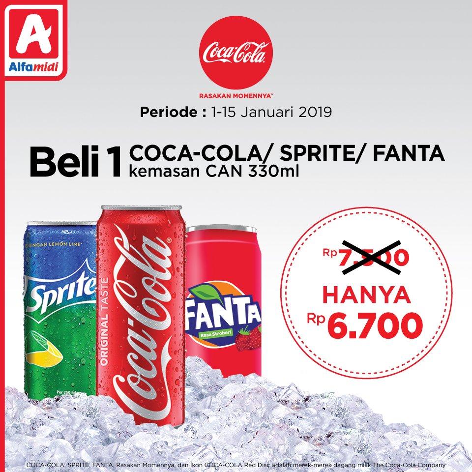 #Alfamidi - Promo Produk CocaCola Harga Spesial (s.d 15 Jan 2019)