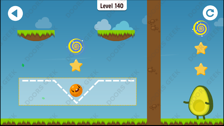 Where's My Avocado? Level 140 Solution, Cheats, Walkthrough, 3 Stars for Android, iPhone, iPad and iPod