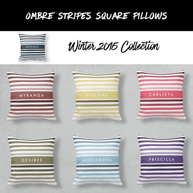Ombre Stripes Square Pillows Winter 2015 Collection
