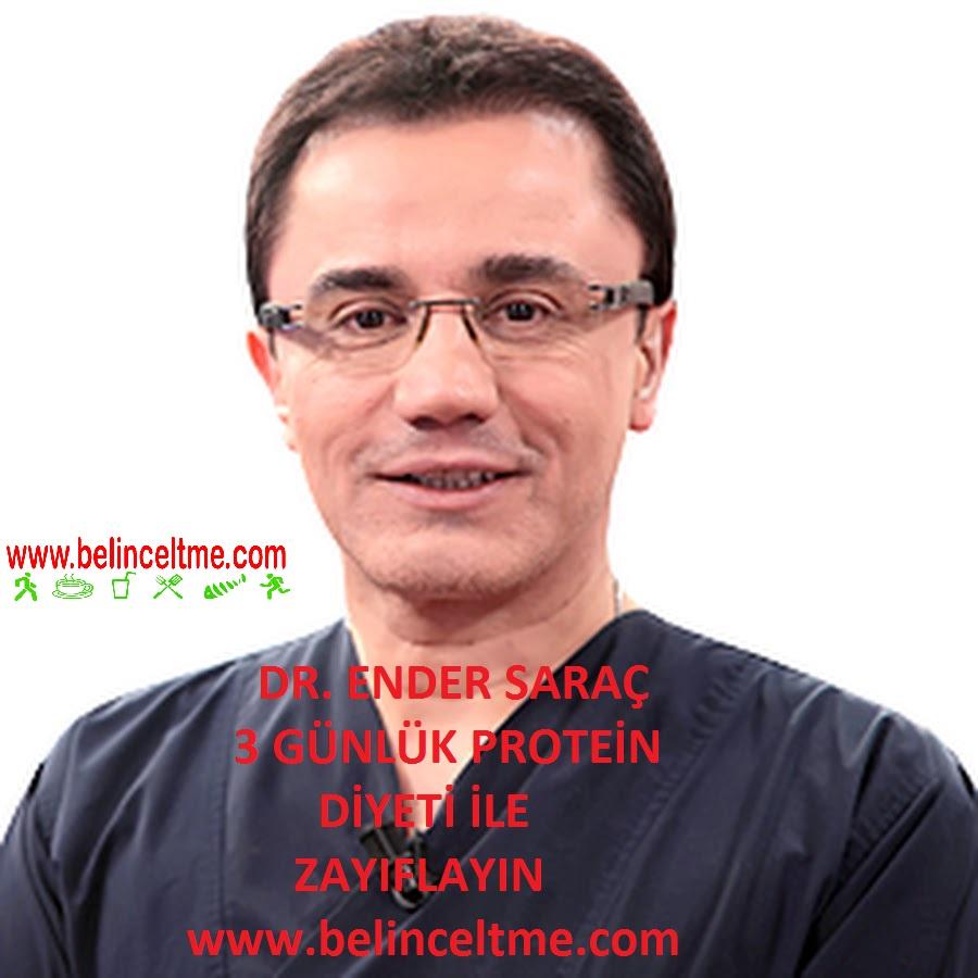 Dr.Ender Saraç Basen ve Kalça Eriten Diyet Listesi