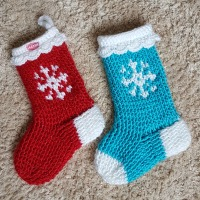 snowflake crochet stocking