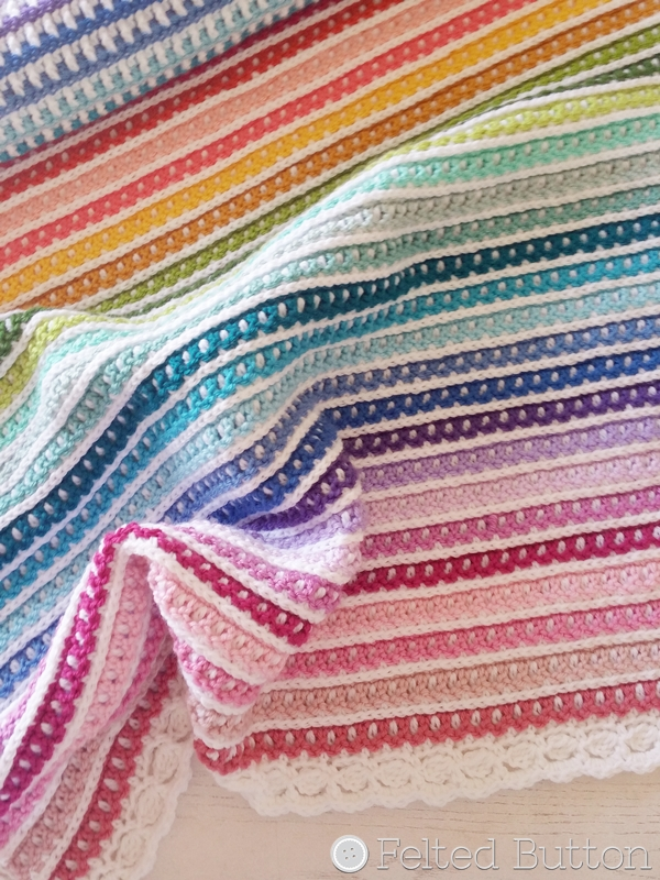 Janus Blanket Crochet Pattern by Susan Carlson of Felted Button