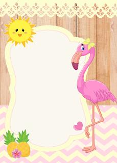 21 Convites Gratuito No Tema Flamingo E Abacaxi