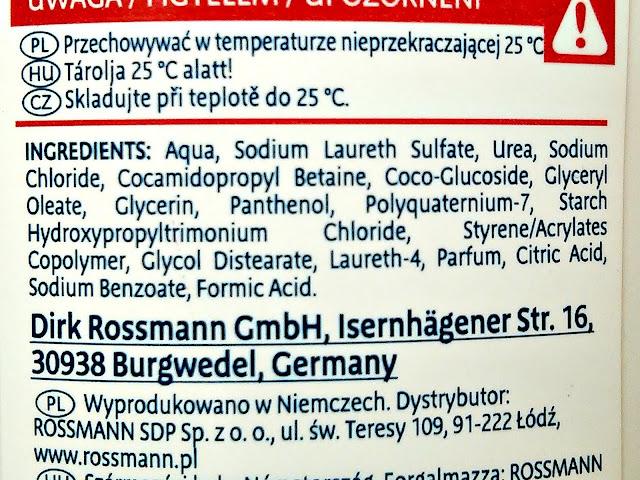 Isana Med, Urea - Szampon do włosów z mocznikiem 5%, skład