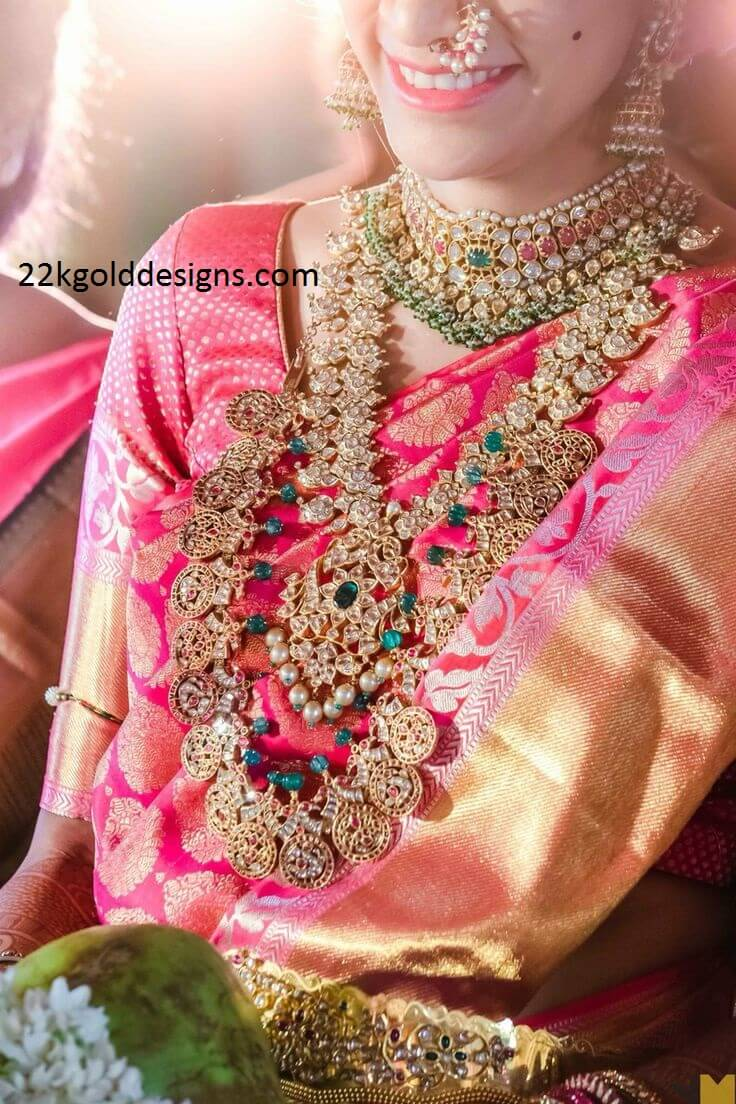 Pai jewellers gold necklace designs latest indian jewellery designs - Rich South Indian Bridal Jewellery