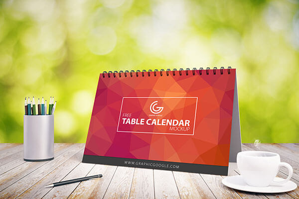 Mockup PSD Kalender 2019 Terbaru - Free Table Calendar Mock-up For 2017