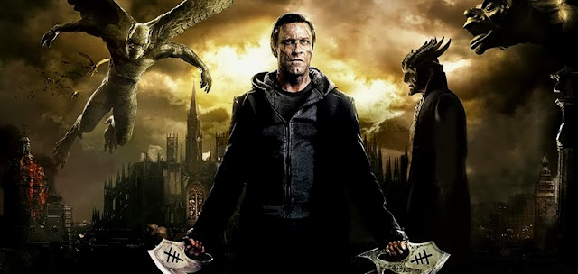Adam - interpretat de Aaron Eckhart - în filmul I, Frankenstein
