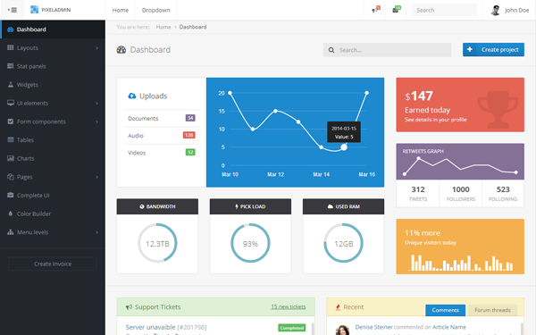 new bootstrap admin theme