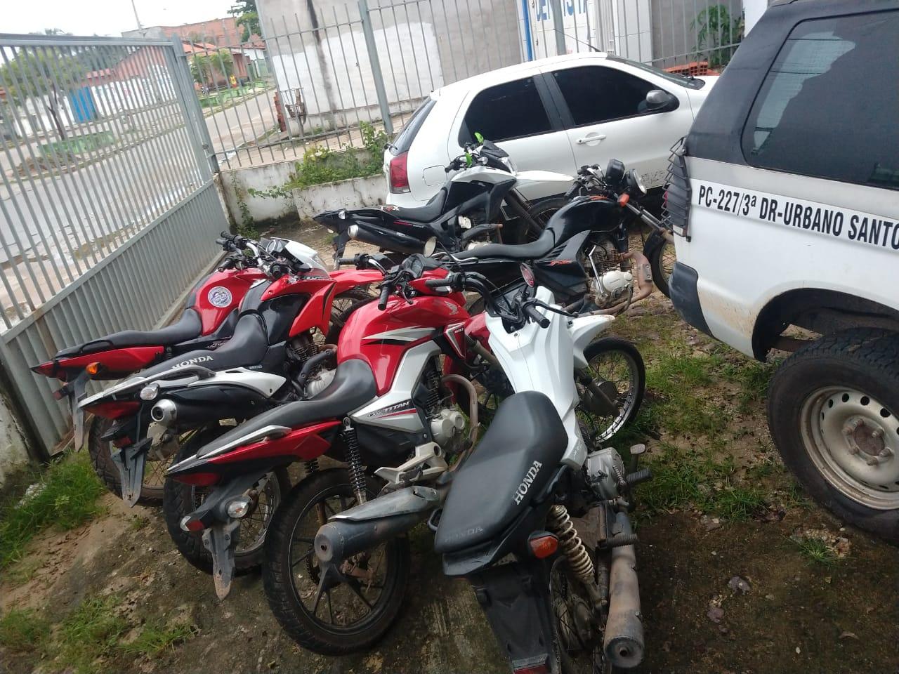 Polícia Militar de Urbano Santos recupera 06 motocicletas roubadas.