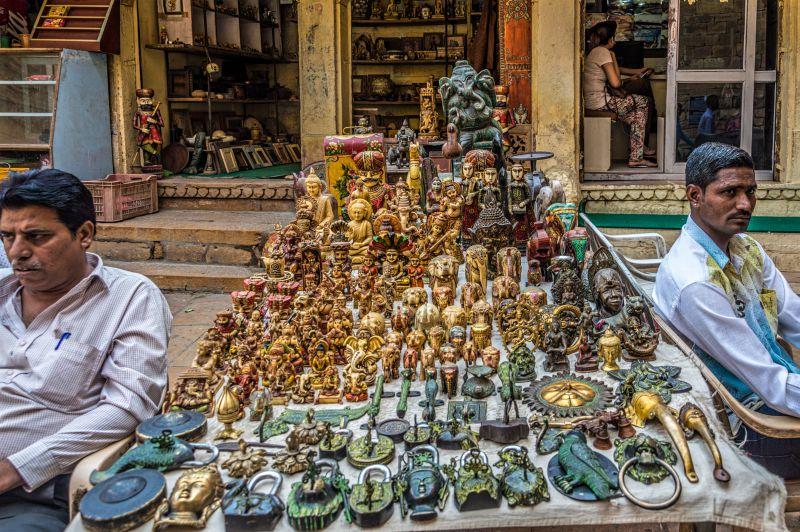 Handicraft seller at Jaisalmer Fort