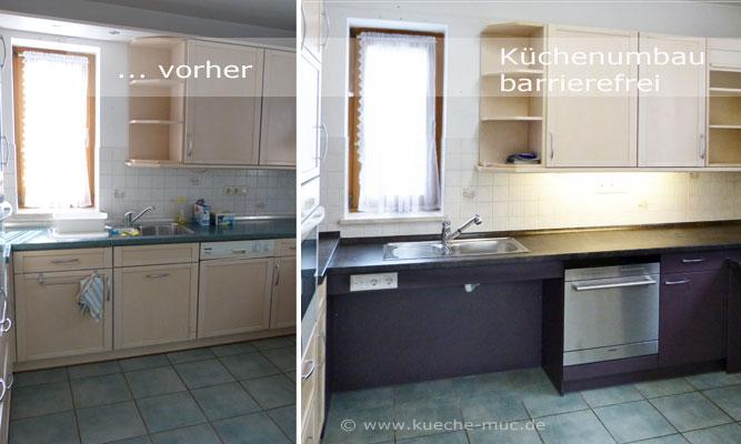 Küche barrierefrei, Küche rollstuhlgerecht, Küchenumbau