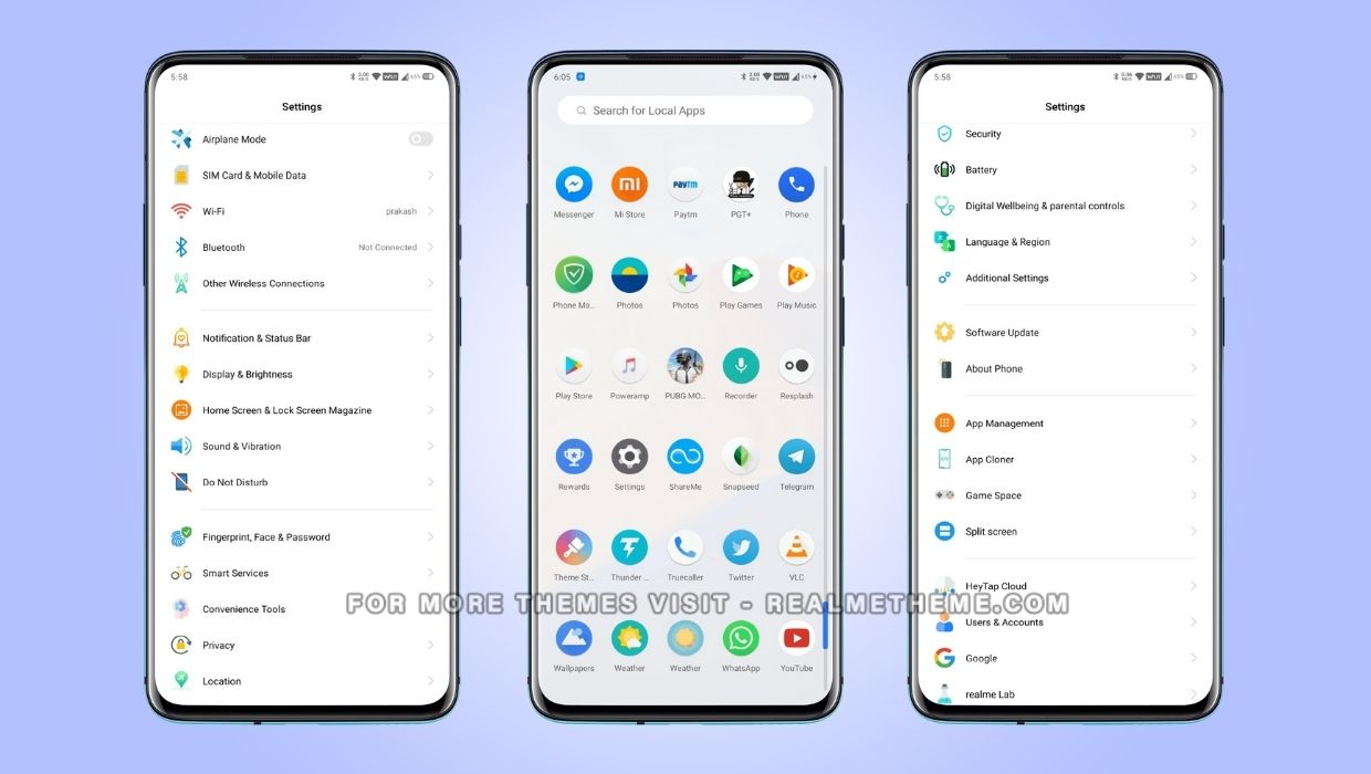 OxygenOS theme for Realme Devices