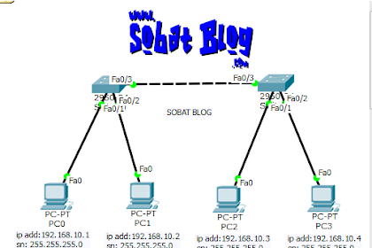 Cara Konfigurasi 2 Switch di Cisco Packet Tracer
