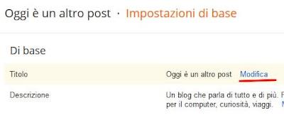 Come cambiare il titolo al proprio blog su blogger