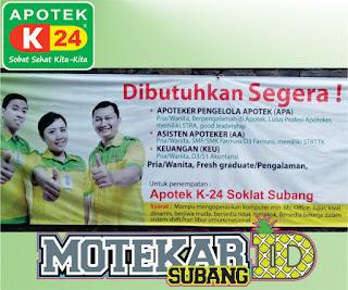 Info Loker Apotek K24 Subang Apoteker (APA) Maret 2019