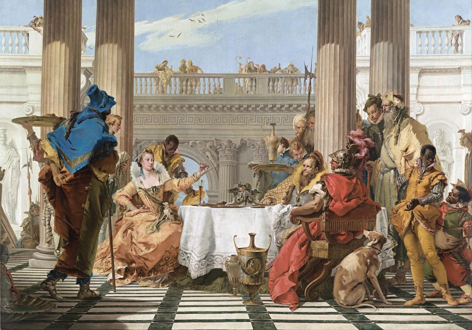 ジョヴァンニ・バッティスタ・ティエポロのクレオパトラの宴会