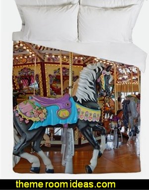CAROUSEL HORSE duvet  carousel theme bedroom ideas - carousel bedroom set - carousel horse theme girls bedrooms - carousel horse decor -  carousel merry go round wall decals - carousel theme baby bedrooms - girls bedrooms theme - carousel horse nursery theme - carousel themed nursery