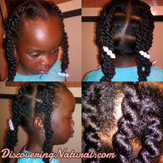 Afrian Threading on Natural Hair