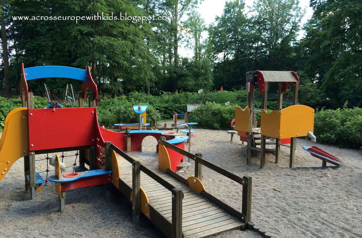 a playground for small kids at Egeskov Slot