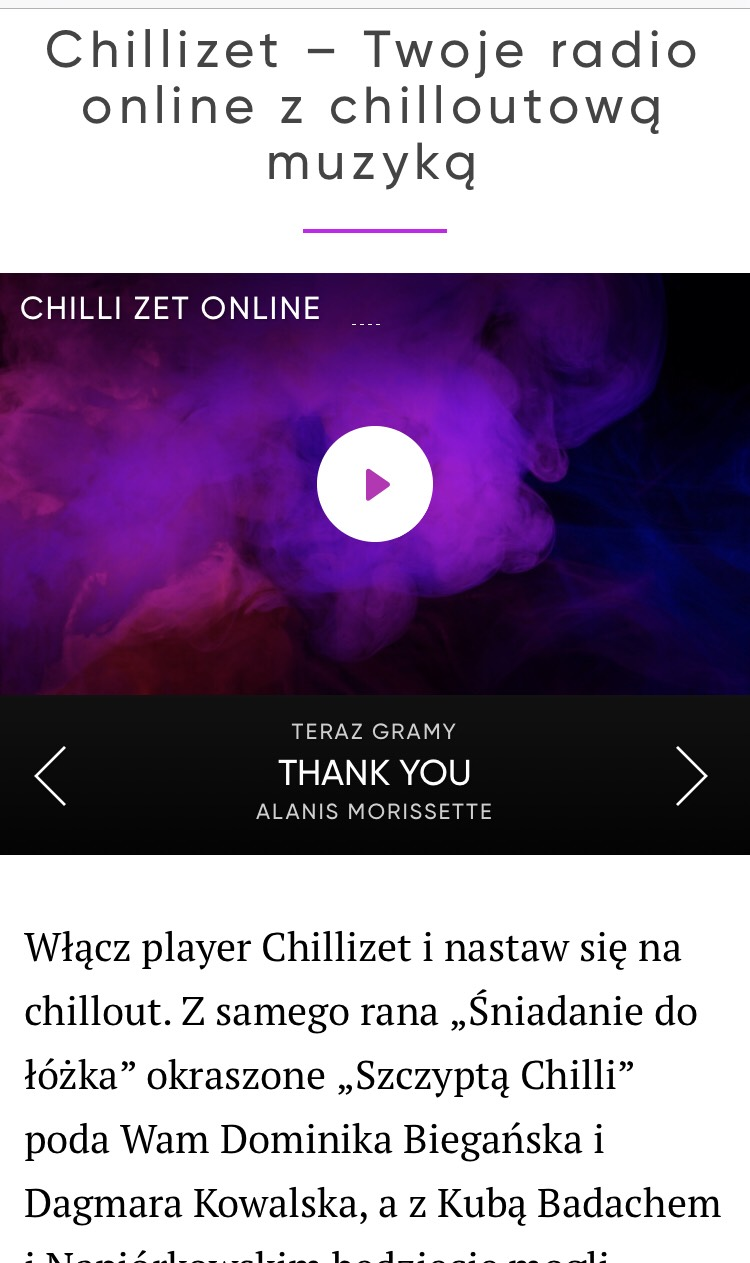 radio chillizet, chillizet online, radio z uspokajającą muzyką,