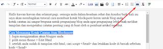 tutorial cara menggunakan catatan penting untuk blogger