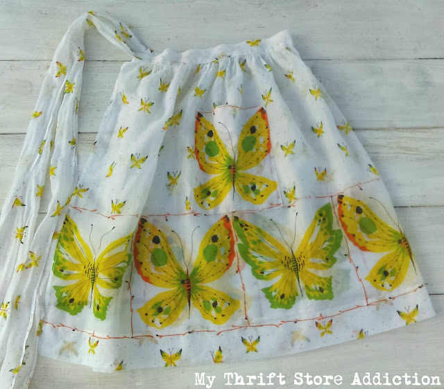 retro butterfly vintage apron