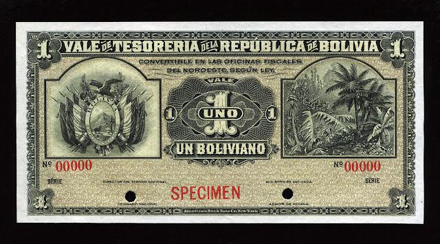 World Paper Money Boliviano