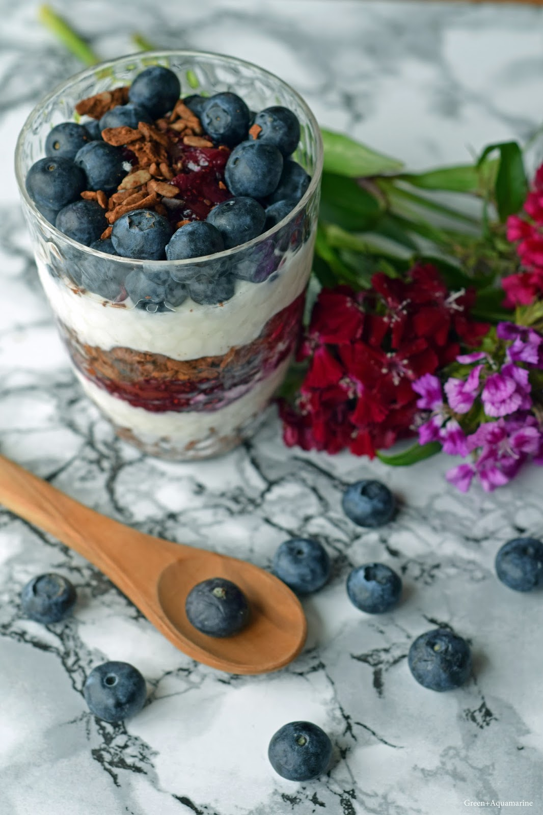 Black Forest inspired parfait, using Planet Organic's paleo granola. Via @eleanormayc