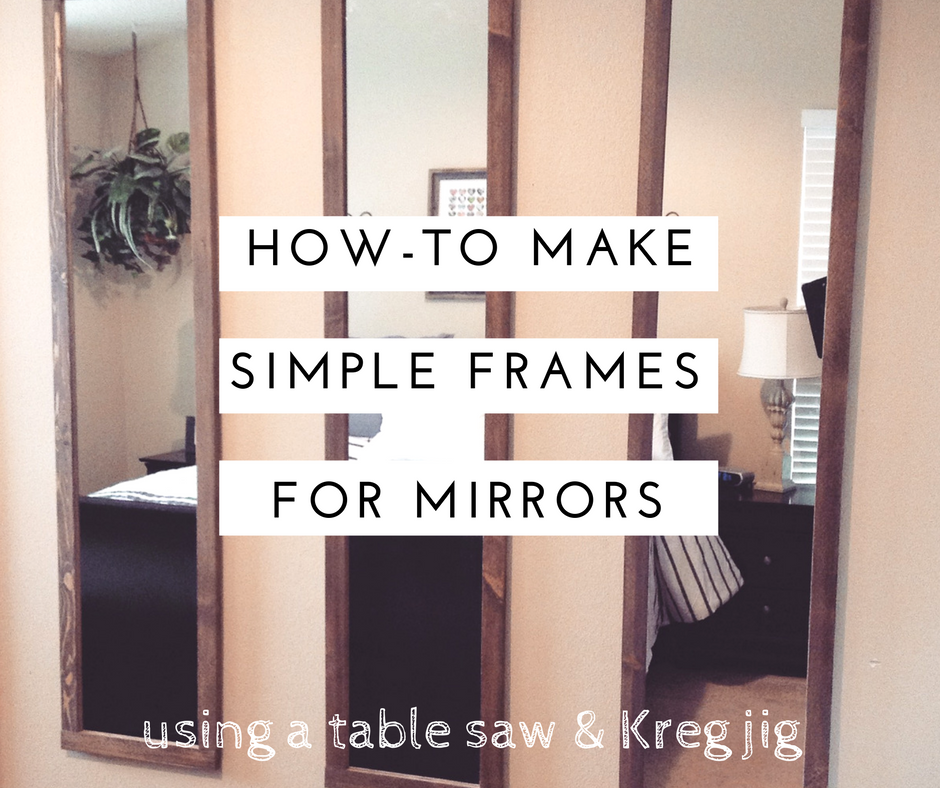mimiberry creations: How to Make Simple Frames for Mirrors of almost ...