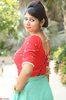 Lucky Shree Looks super cute in Bright Red Green Anarkali Dress ~  Exclusive 016.JPG