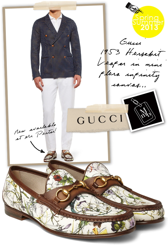 fee8a1ff958 Gucci Mini Flora Infinity Canvas 1953 Horsebit Loafers From Cruise 2013  Mens Collection