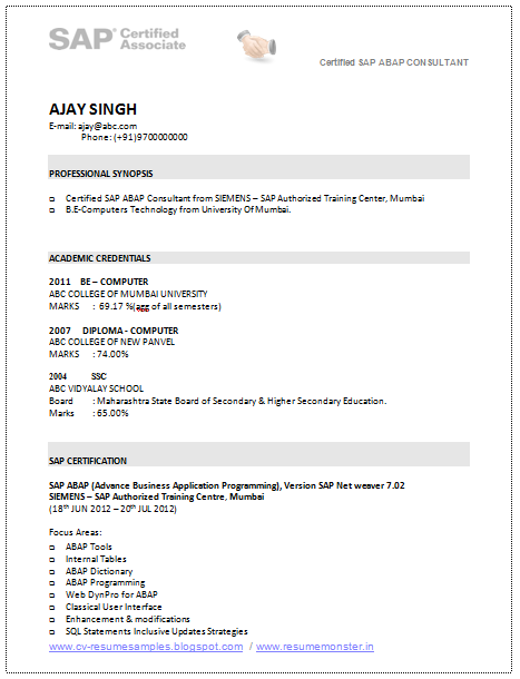 Entry Level Resumes Finance Cppmusic Over 10000 Cv And Resume Samples With Free Download Sap