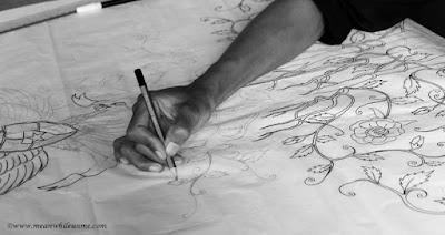 Belajar tentang Batik Pekalongan Proses pembuatan corak batik