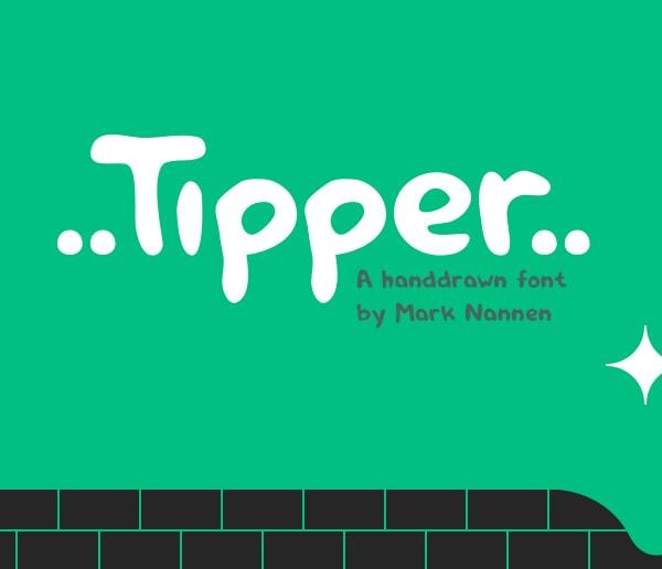 Brush font terbaik 2017 - Tipper – Free Brush Font