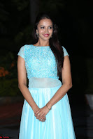 Pujita Ponnada in transparent sky blue dress at Darshakudu pre release ~  Exclusive Celebrities Galleries 115.JPG