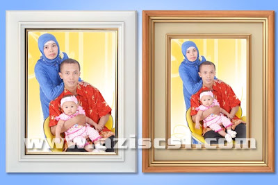 Download Frame Kayu Warna Putih dan Kuning