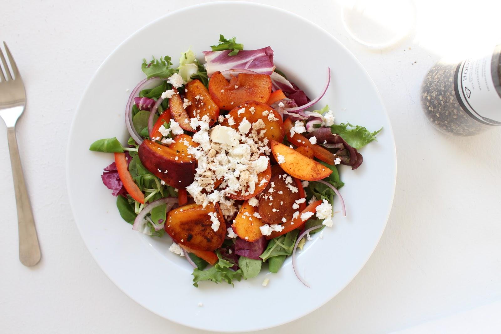 Warm Peach Salad Recipe