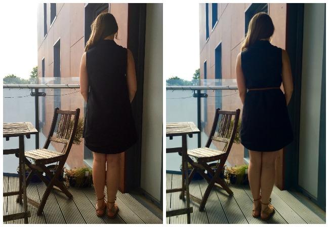 Diary of a Chain Stitcher: Black Linen Grainline Alder Shirtdress
