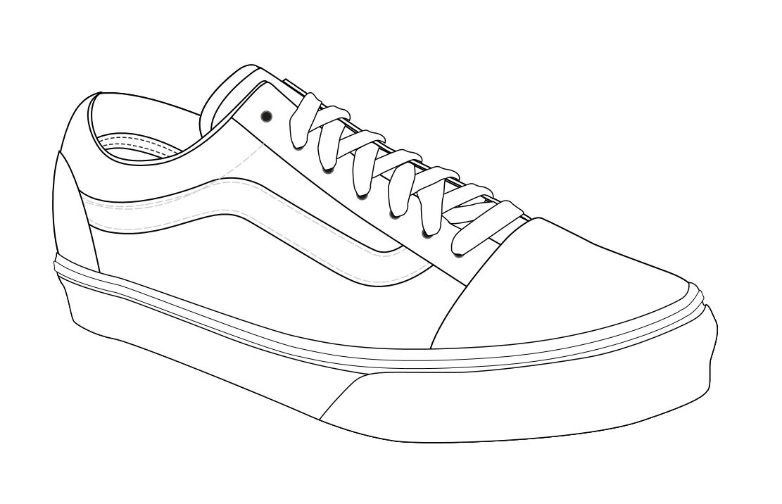 Drawing Old 57 Skool Discount Vans Buy Off Share zRwtx