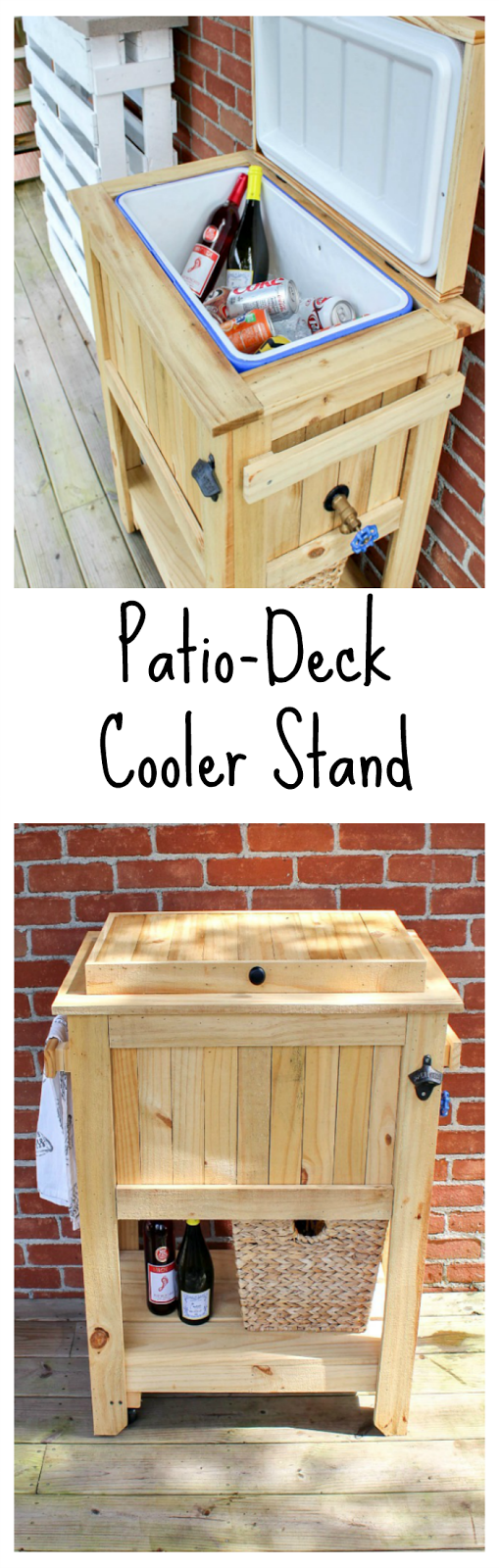 Patio/Deck Cooler Stand Reveal  Sweet Parrish Place