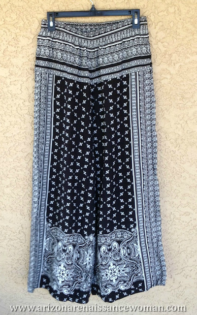Skies Are Blue Printed Palazzo Pants - Golden Tote Review - April 2016