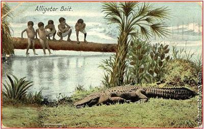 Bebês negros eram usados como iscas para caçar jacarés