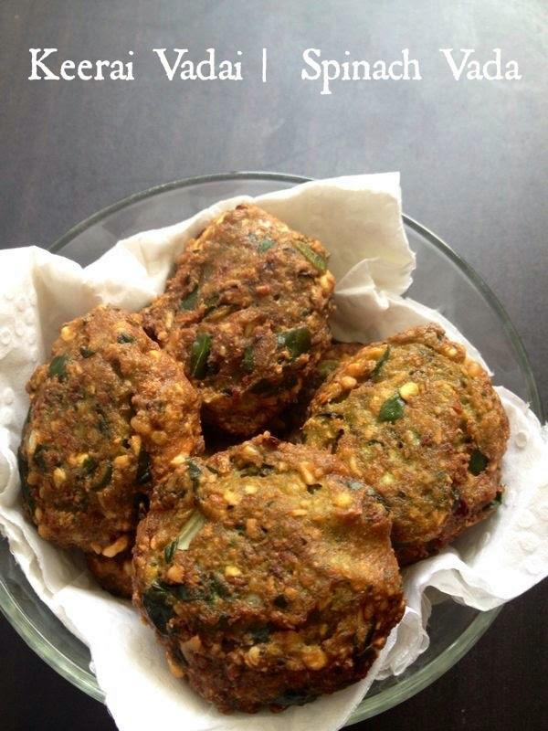 Keerai Vadai |  Spinach Vada