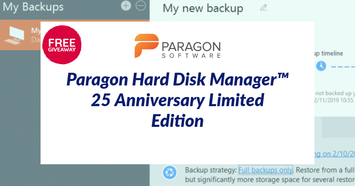 Paragon Hard Disk Manager Free Edition Giveaway