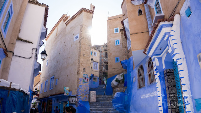 morocco chefchaouen blue street