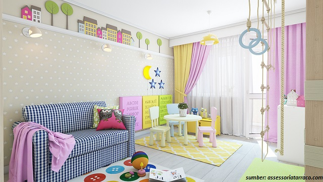 37 Gambar Dinding Kamar Tidur Anak Yang Menarik Bagi Buah Hati 100