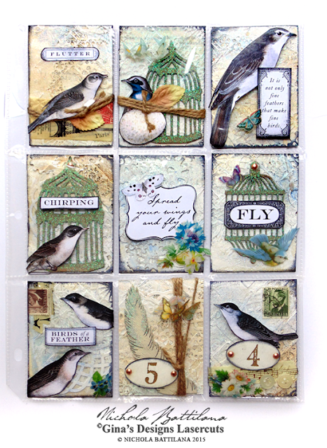 ATC Pocket Letter Tutorial for GinasDesigns.net - Nichola Battilana