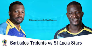 Barbados Tridents vs St Lucia Stars 27th Match