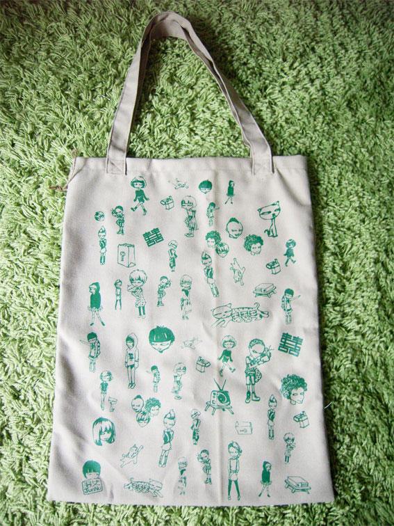 Little Junnv Silkscreen Tote Bag